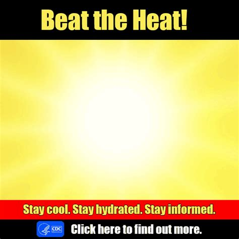 Keep Cool Heat Wave Sweeps The U S by Nceh Protect Yourself From The Dangers Of Heat