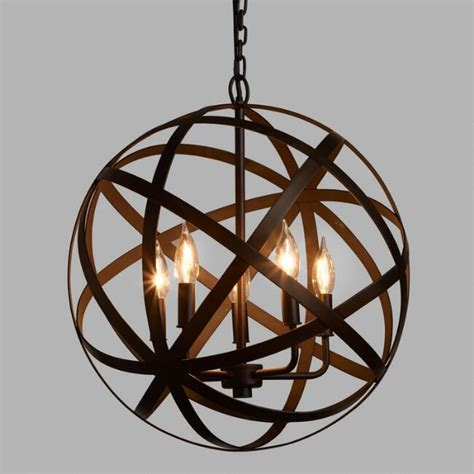 world market pendant light metal orb chandelier world market
