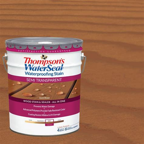 thompsons waterseal  gal semi transparent acorn brown