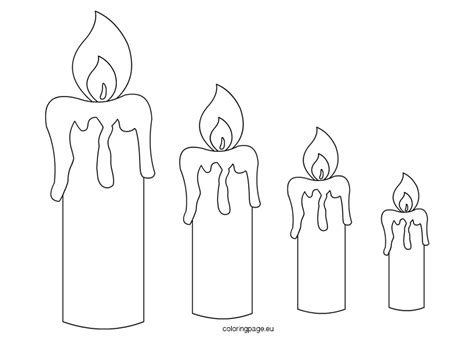 candle template candle templates coloring page