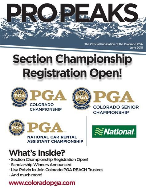 colorado pga section june 2015 colorado pga pro peaks newsletter by colorado