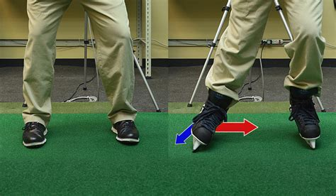 weight transfer golf swing drills skate your way to better footwork the golftec scramble