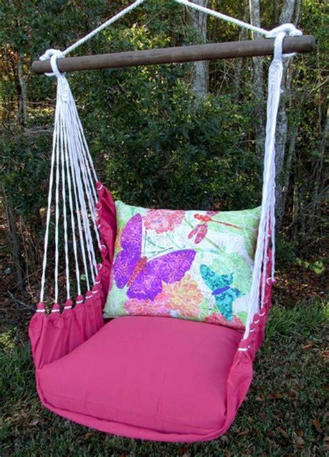 pink swing chair pink butterflies hammock chair swing gardenfun com