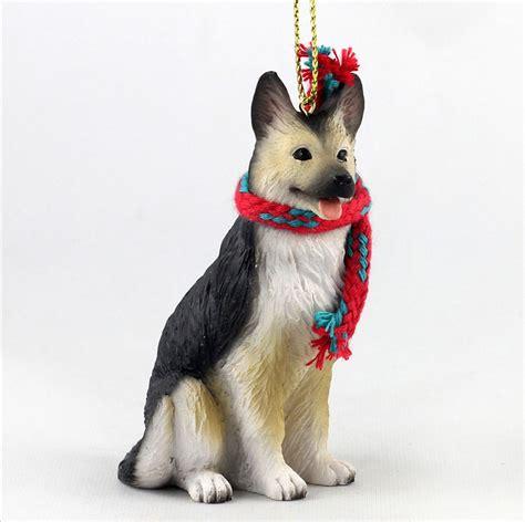 puppy ornaments german shepherd ornament scarf figurine black ebay
