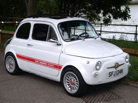 old fiat classic chrome fiat abarth 595 replica 1975 n white