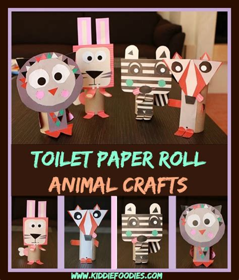 Toilet Paper Roll Crafts Animals - toilet paper roll animals easy paper crafts for