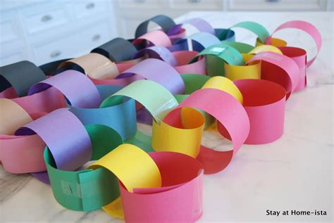 Paper Chains - stay at home ista rainbow paper chains