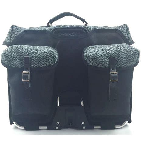 Carradice City Folder M Bag Black White Straps brompton bicycle bag harris tweed city folder m carradice