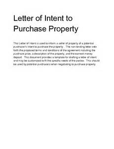 Letter Of Intent To Purchase The Property Welcome To Docs 4 Sale