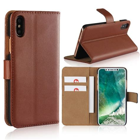Apple Iphone X Leather apple iphone x wallet leather brown
