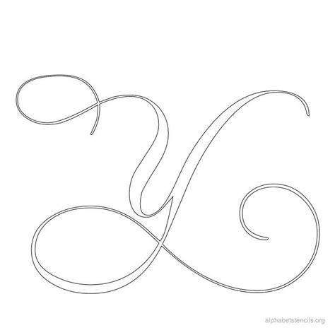 printable calligraphy stencils print free alphabet stencils calligraphy y alfabeto