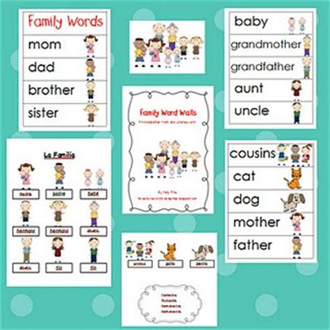 Themes En English | family unit in english spanish lessons and activities