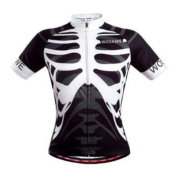 Kaos Sleeve Motorcycle wosawe mens cycling bicycle jersey mountain road