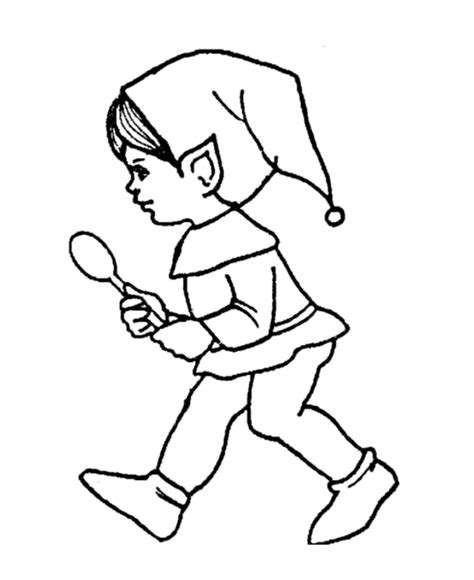 coloring page elves girl elf coloring pages coloring home