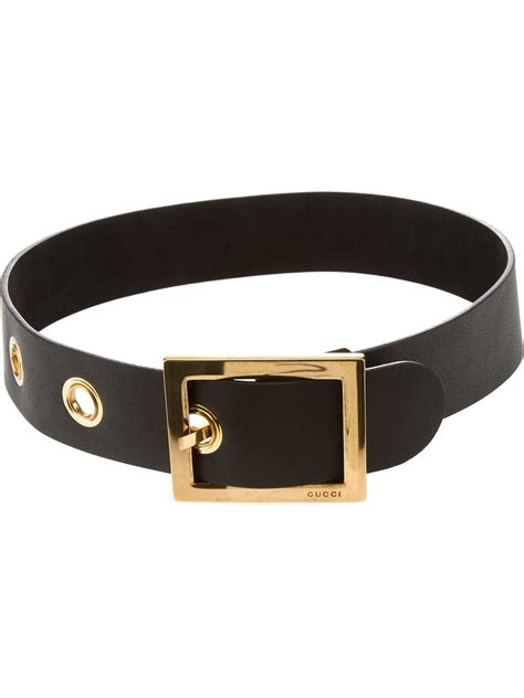 gucci wide belt in black lyst