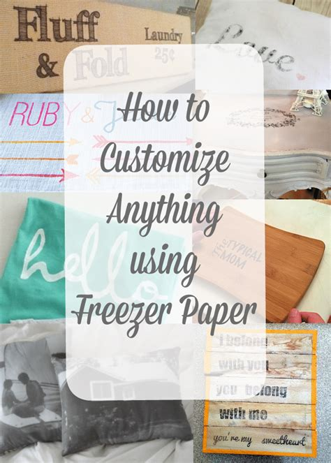 How To Make Freezer Paper - how to print using freezer paper the typical