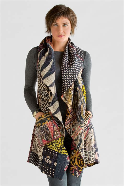 Patchwork Jacket Pattern - kantha patchwork vest by mieko mintz cotton vest
