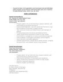 free dental assistant resume templates chronological dental assistant resume template page 2
