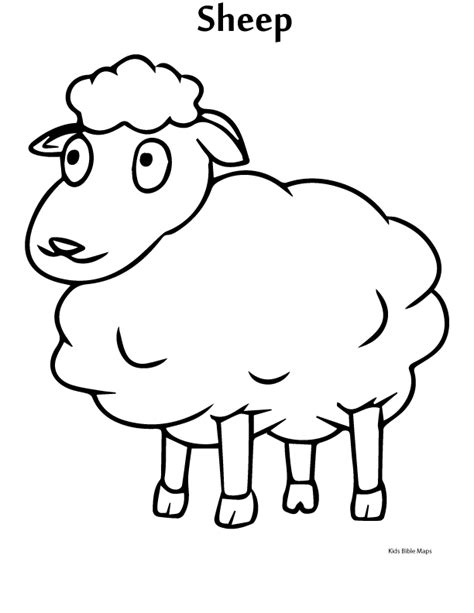 coloring page year of the sheep lambs free colouring pages