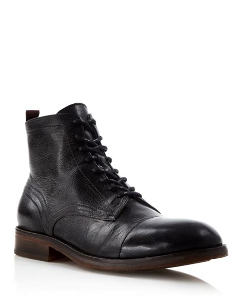 h by hudson boots lyst h by hudson palmer cap toe boots in black for