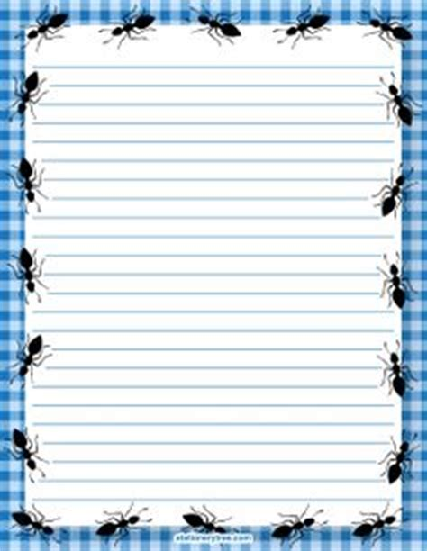 ant writing paper printable ant border free gif jpg pdf and png