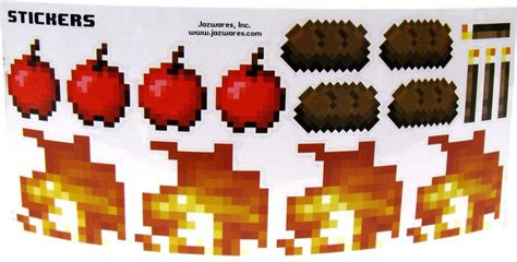 Minecraft Papercraft Items - minecraft sticker set papercraft torch steak