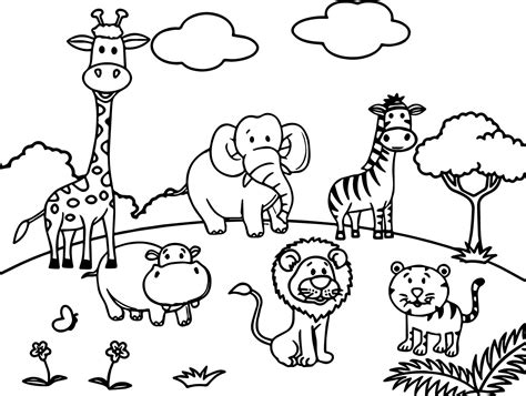 coloring book of animals animals all coloring page wecoloringpage