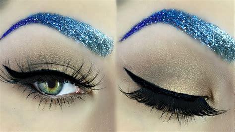 glitter eyeliner tutorial youtube glitter brow makeup tutorial beautybyjosiek youtube