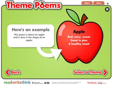 theme exles for students theme poems readwritethink