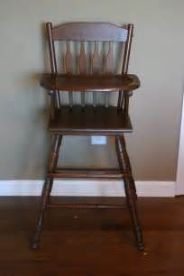 antique wooden highchair where the sidewalk ends