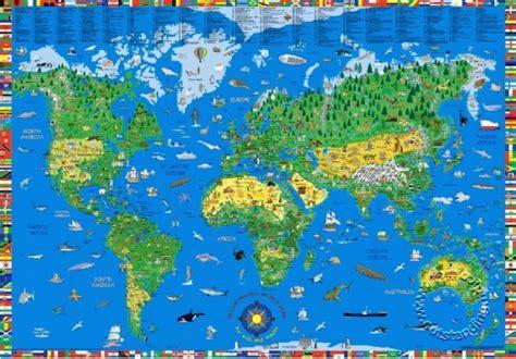 children es wall karten children s illustrated world map kruger and schonhoff