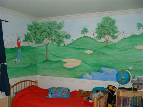 golf wall murals sports wall murals by colette sports themed rooms