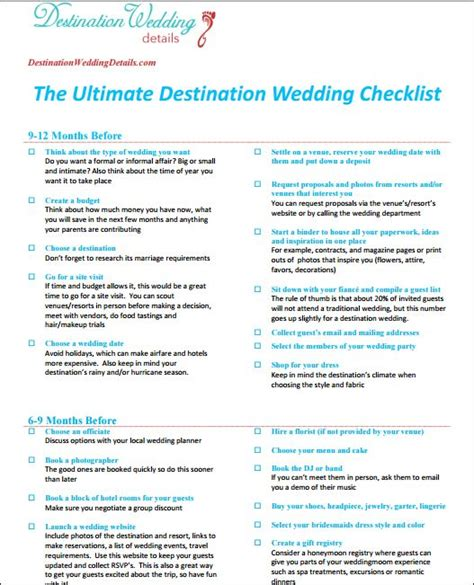 Wedding Planner Email List 25 best ideas about destination wedding checklist on