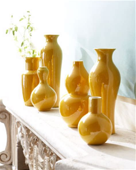 Yellow Floor Vase by Set Of Six Yellow Vases Modern Vases By Horchow