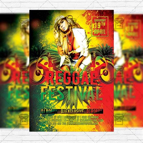 Reggae Festival Premium Flyer Template Facebook Cover Exclsiveflyer Free And Premium Psd Jamaican Flyer Templates