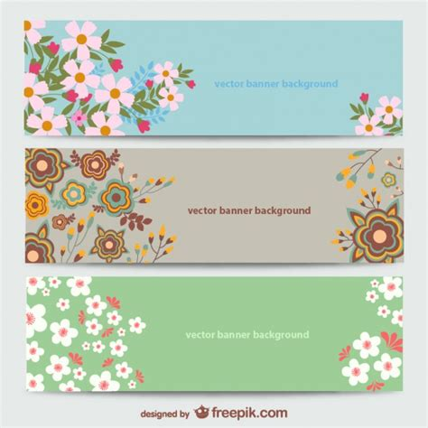 Floral Banners Templates Vector Free Download Flower Banner Template