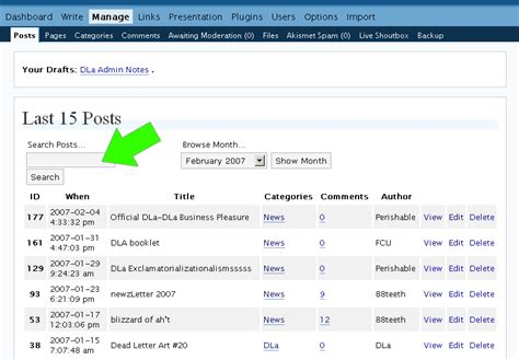 Search S Posts Basics Saving And Editing Posts Perishable Press