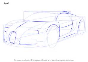 How To Draw A Bugatti Learn How To Draw Bugatti Veyron Sports Cars Step By Step Drawing Tutorials