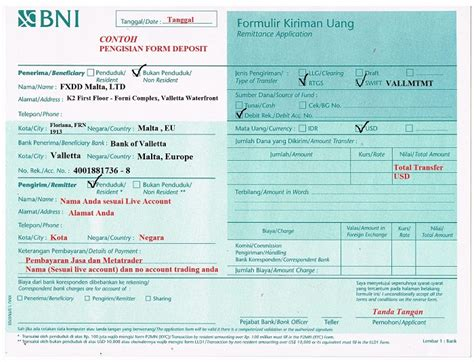 contoh format sms banking bni transfer deposit dana fbs indonesia