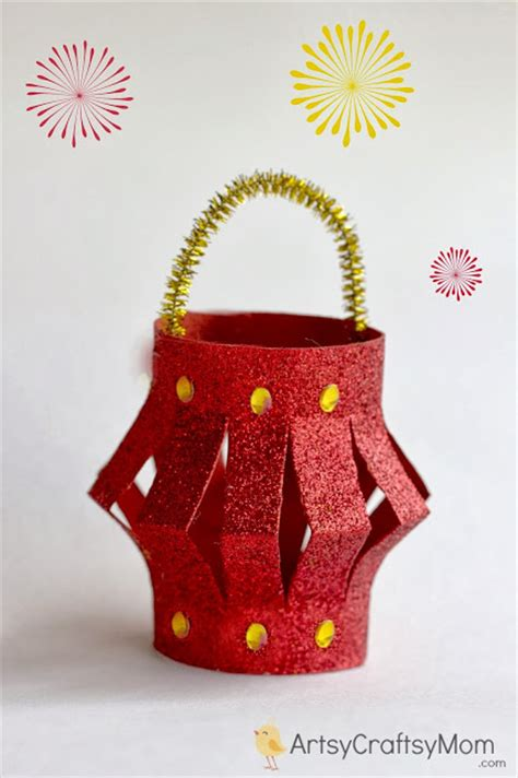 Handmade Diwali Lantern - 100 diwali ideas cards crafts decor diy and ideas