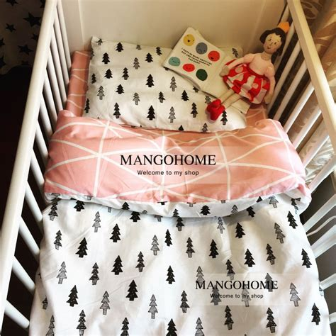 cute pattern bedding 120 60cm 130 70cm cute baby crib bedding set 100 cotton