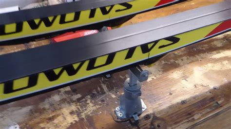 nordic ski wax bench make your own side by side nordic ski wax bench youtube