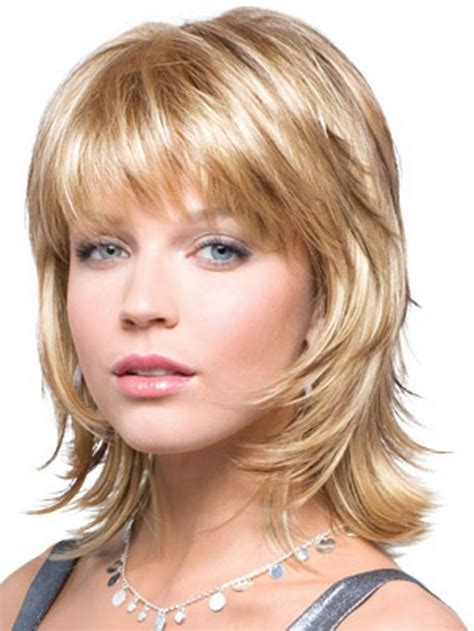 feathered layered haircuts 50 medium shag hairstyles google search shag cuts