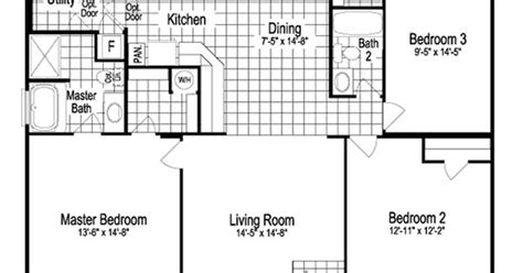 house plans oklahoma city model sst342a7 1260 sq ft manufactured home floor plans