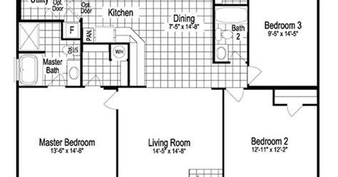 modular home floor plans oklahoma model sst342a7 1260 sq ft manufactured home floor plans