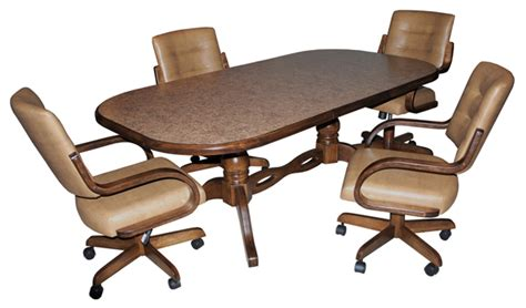 kitchen table chairs with casters wood dinette sets wooden kitchen tables dinettes
