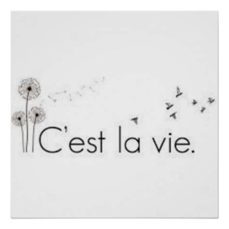 C Est La Vie Poster Zazzle Cest La Vie Ideas