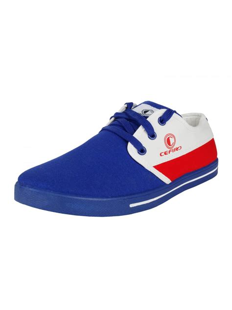 cefiro royal blue white casual shoes for ccs0009