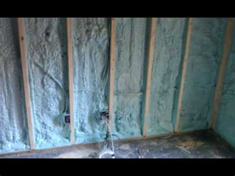 spray foam insulation for basement walls