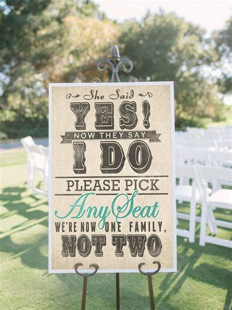 wedding seating signs wedding seating sign for ceremony